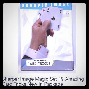 Sharper Image 19 Amazing Card Tricks set, NWOT